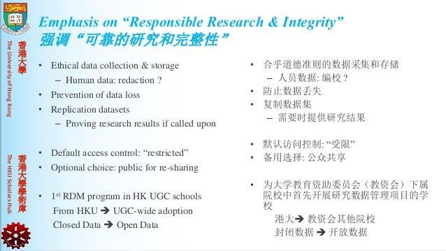 TheUniversityofHongKongTheHKUScholarsHub 香 港 大 學 香 港 大 學 學 術 庫 • Ethical data collection & storage – Human data: redaction...