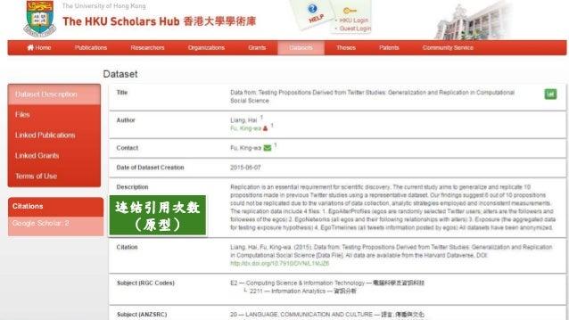 TheUniversityofHongKongTheHKUScholarsHub 香 港 大 學 香 港 大 學 學 術 庫 连结引用次数 (原型)Google Scholar: 2 Citations
