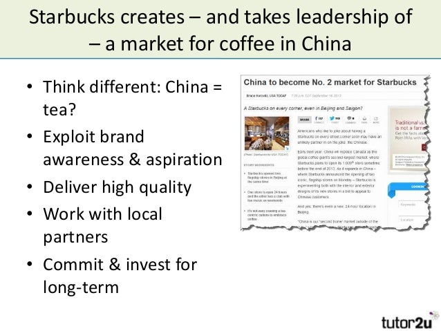 opportunities and threats for starbucks This is an example of how starbucks could leverage swot analysis to make the right strategic decisions to grow their business this framework helps starbucks to look at internal strengths and weaknesses vs external opportunities and threats.