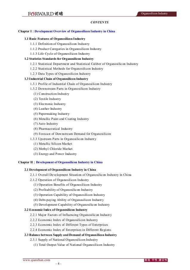 Organosilicon Industry  CONTENTS Chapter I:Development Overview of Organosilicon Industry in China 1.1 Basic Features of O...