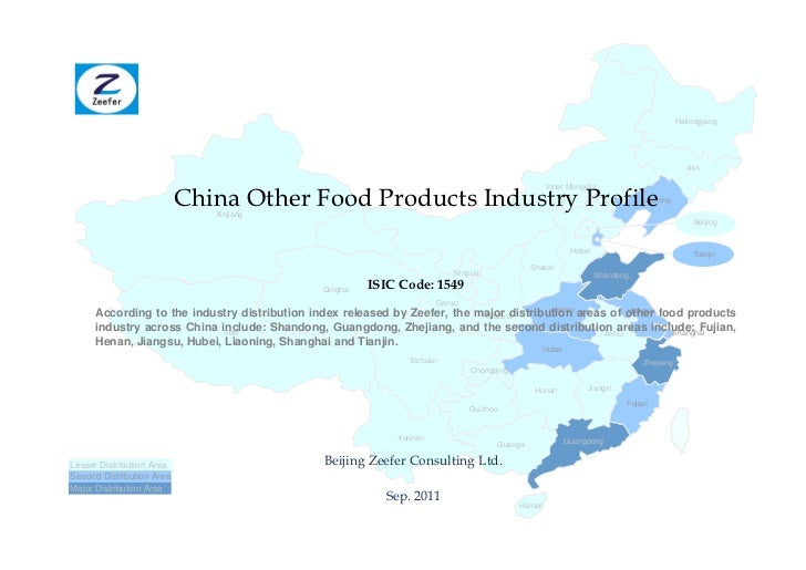 China other food products industry profile isic1549 sample pages