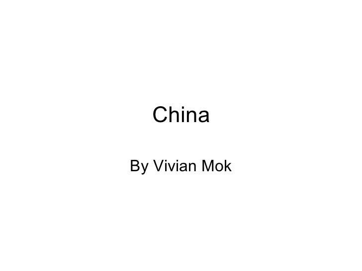 China By Vivian Mok