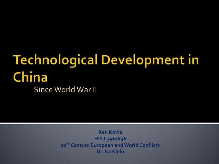 Since World War II                           Ken Koyle                      HIST 396/696        20th Century European and ...