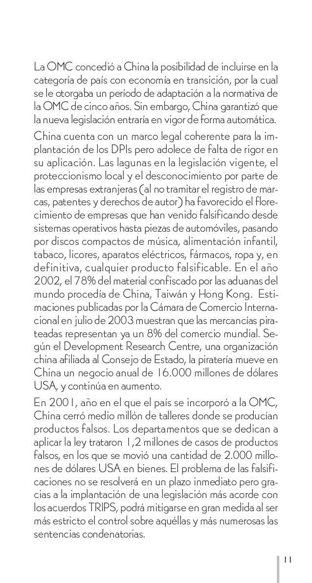 La OMC concedió a China la posibilidad de incluirse en lacategoría de país con economía en transición, por la cualse le ot...