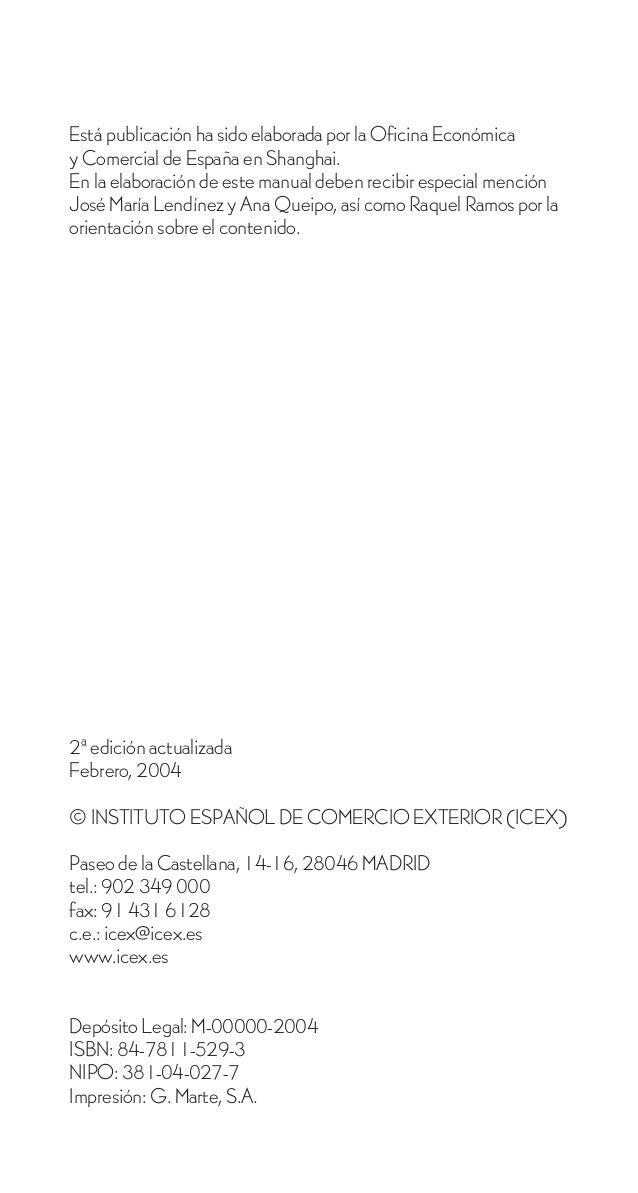 Está publicación ha sido elaborada por la Oficina Económicay Comercial de España en Shanghai.En la elaboración de este man...