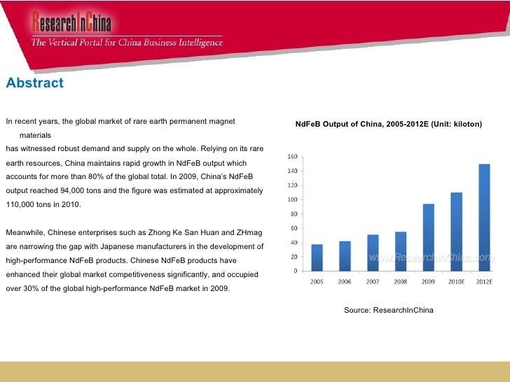global and china rare earth permanent Overview on the worlds' magnet supply  rare earth magnets account for about 90,000 tons and  the main producers of permanent magnets are in china, india,.