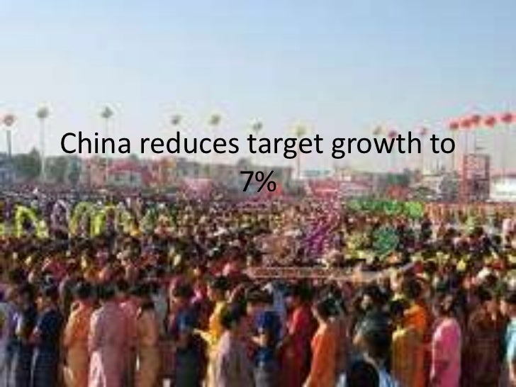 China reduces target growth to 7%<br />