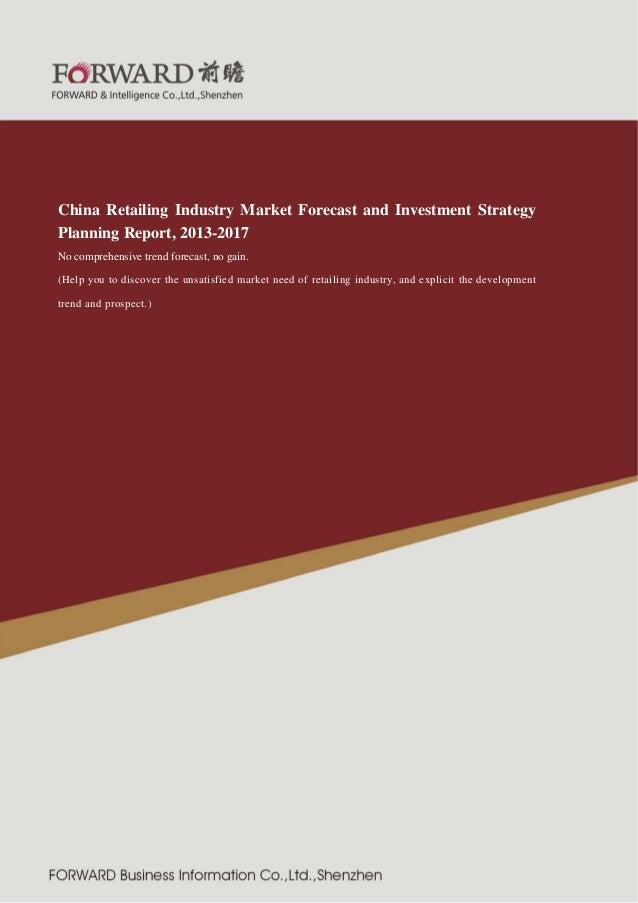 紧固件制 造行业  2011 版  China Retailing Industry Market Forecast and Investment Strategy Planning Report, 2013-2017 No comprehen...