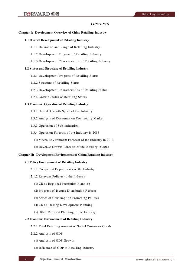 3 Retailing Industry CONTENTS Chapter I:Development Overview of China Retailing Industry 1.1 Overall Development of Retail...