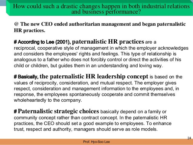 The effects of todays authoritarian style on managers relationship with employees