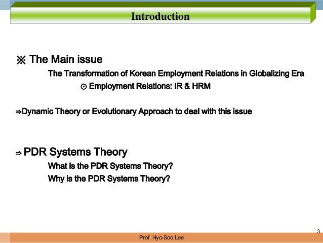 employment relations theories Perspectives on work and the employment relationship subject areas covered  include theories of employment relations systems, varieties of.