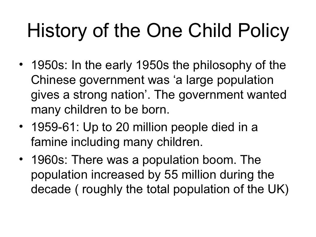 one child China recently announced the end of its one-child policy—here's why that's a big deal for the country and what it says about the rest of the world.