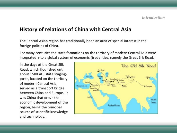 Chinese interest on central asian energy resources essay