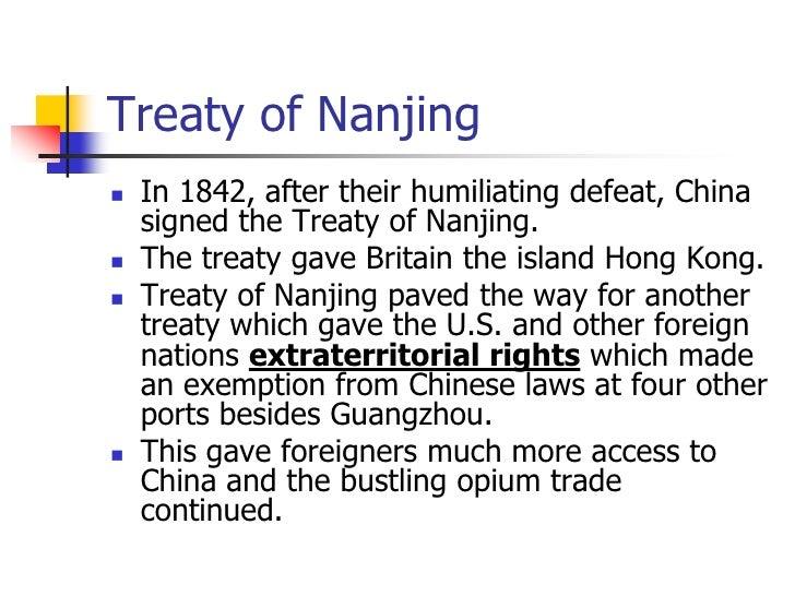 Short Essay on the Treaty of Nanking