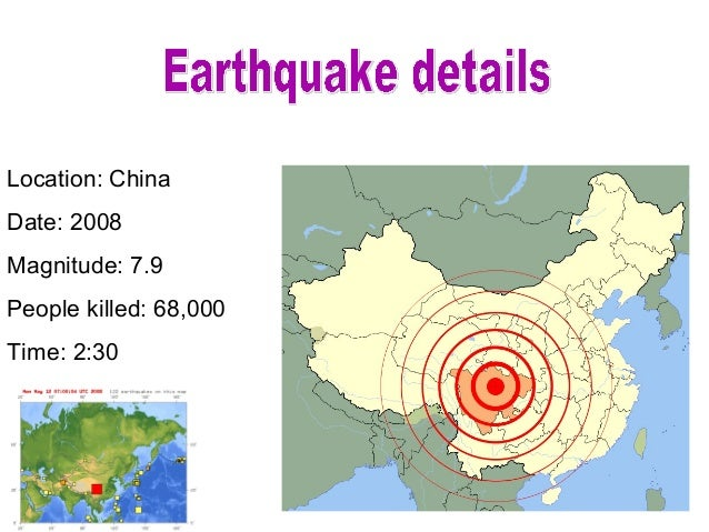 China Sichuan Earthquake Pupil Example