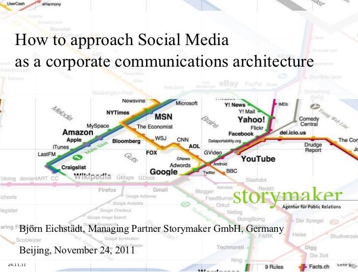 Vielen Dank für Ihre Aufmerksamkeit! 24.11.11 Seite  How to approach Social Media as a corporate communications architectu...
