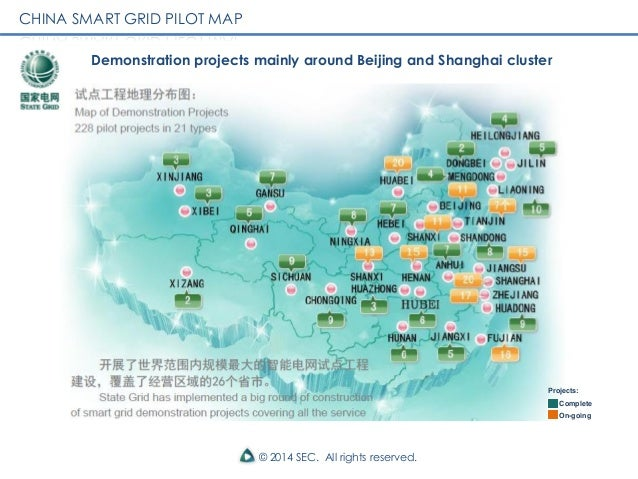 China Smart Grid EcoCities Smart Cities - China map states cities map