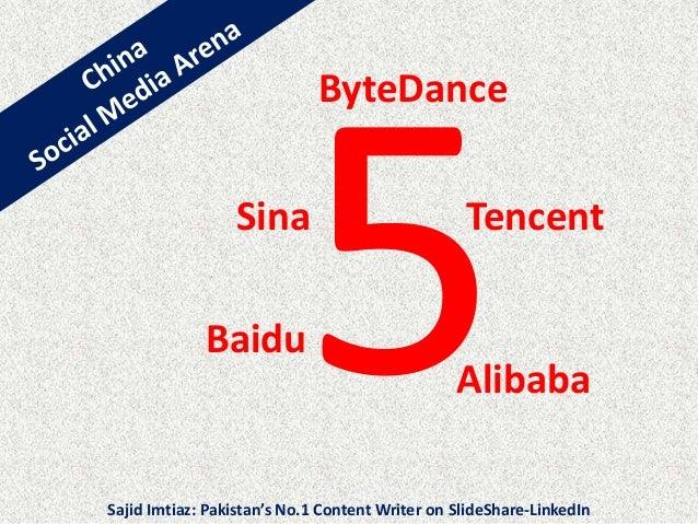 Baidu Alibaba TencentSina ByteDance Sajid Imtiaz: Pakistan's No.1 Content Writer on SlideShare-LinkedIn