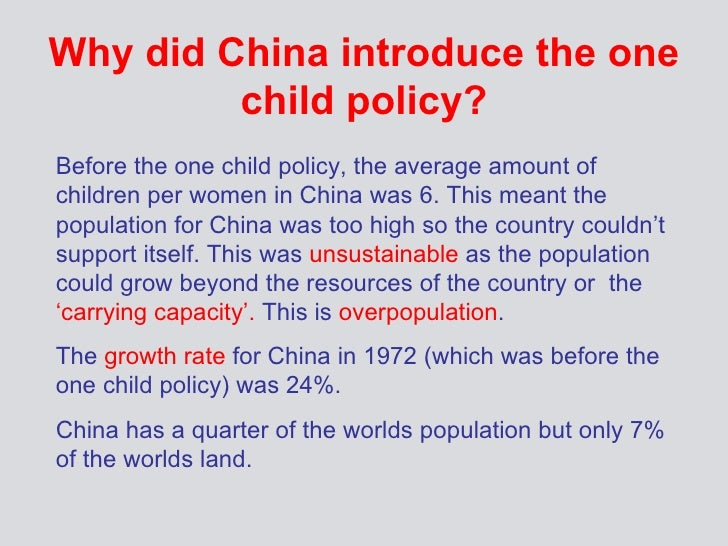 one-child policy in china thesis China's one-child policy likely contributed to one of the most skewed sex ratios in the world today, there are about 116 boys born for every 100 girls born.