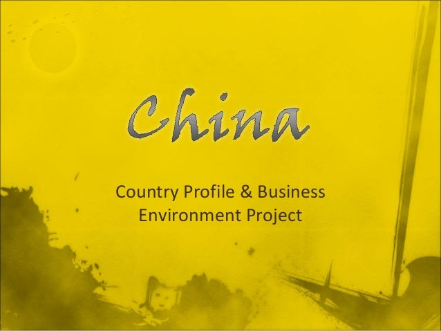 Country Profile & Business Environment Project