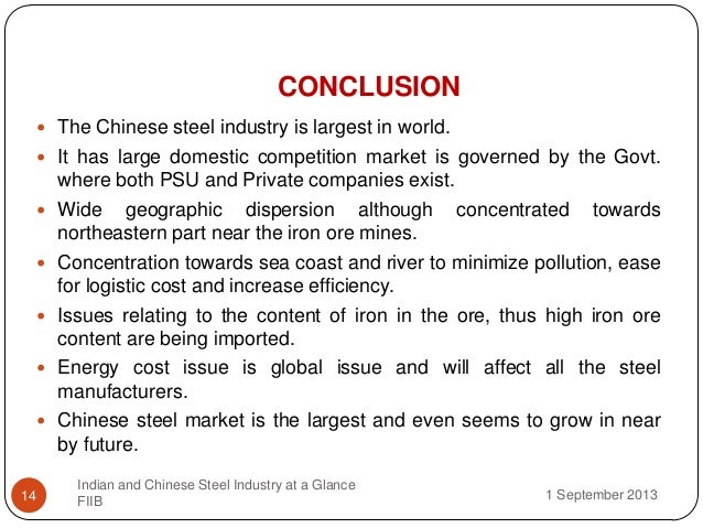 analysis of the steel industry in china Structural steel market size will experience a  structural steel market size, industry analysis  china baowu steel group formed a merger with.