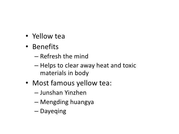 Flower tea</li></li></ul><li>Green Tea<br />Unfermented tea, made with the new shoots of approptirate tea leaves as raw ma...