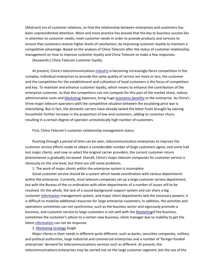 [Abstract] era of customer relations, so that the relationship between enterprises and customers hasbeen unprecedented att...