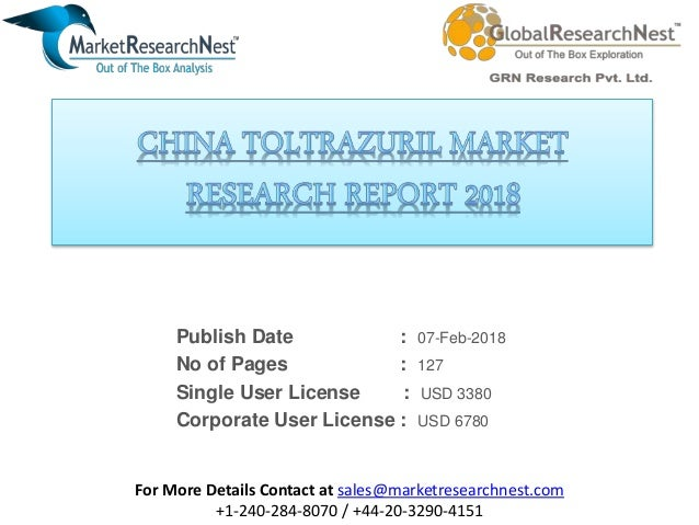 China toltrazuril market research report 2018