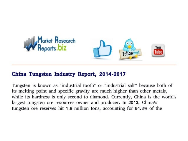 China Tungsten Industry Report, 2014-2017: Import & Export