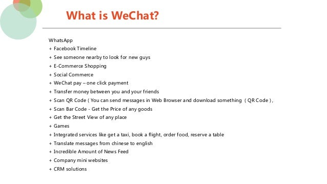 What is WeChat? Introduction for Germany