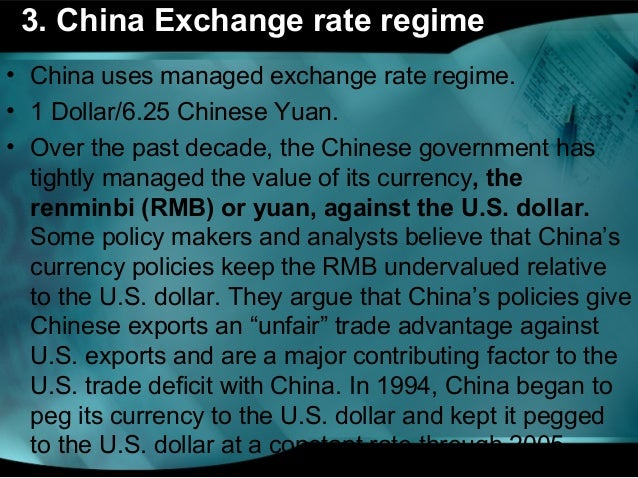 Is chinas exchange rate undervalued