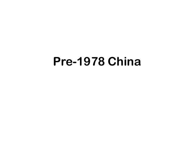 Pre-1978 China