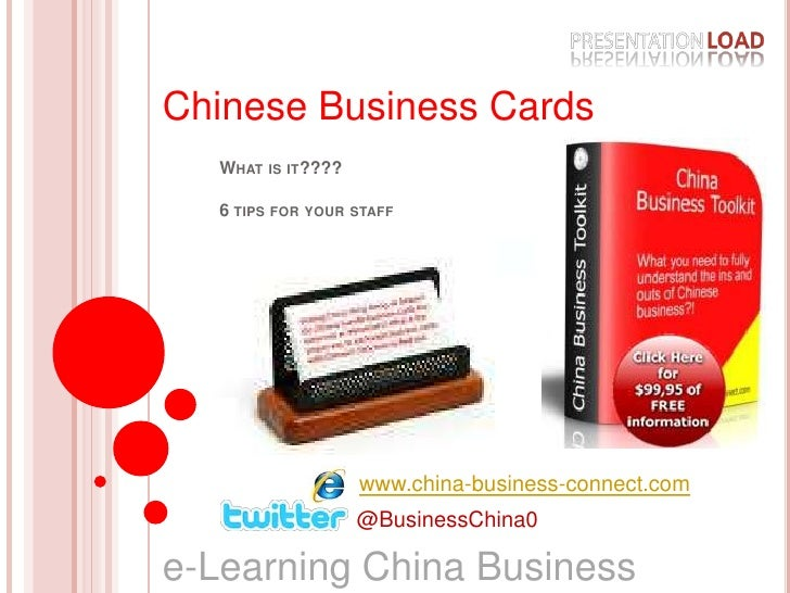 Chinese Business Cards<br />What is it????6 tips for your staff<br />www.china-business-connect.com<br />@BusinessChina0<b...