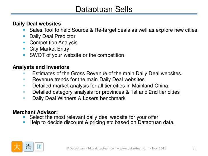 Daily deals analytics