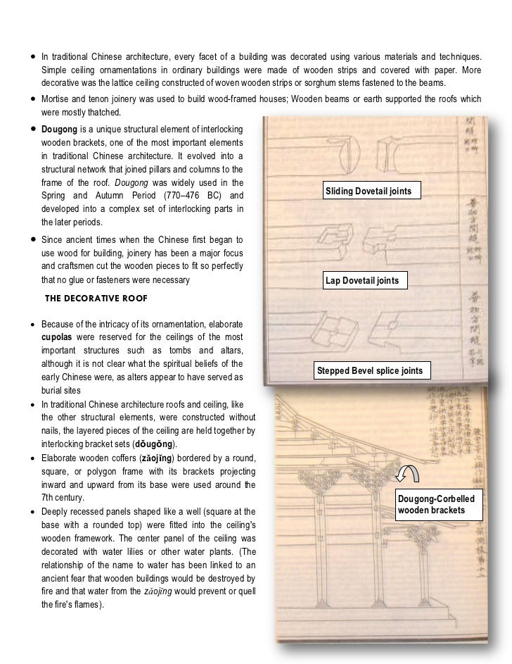 Chinese gen arch characteristics for Architecture chinoise