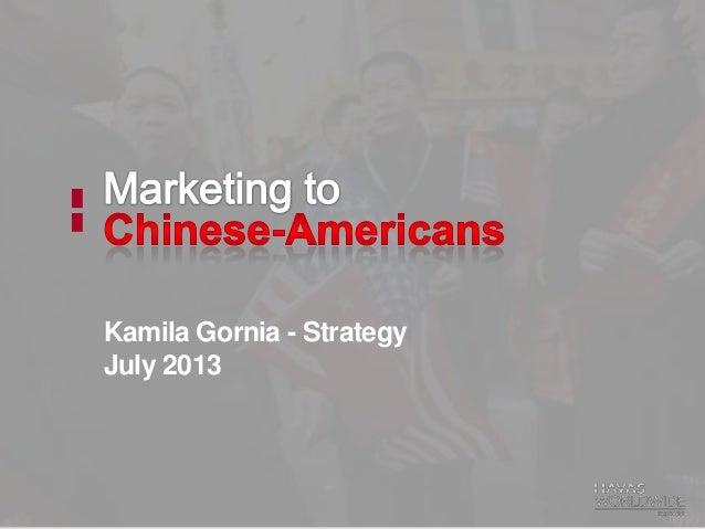 Kamila Gornia - Strategy July 2013