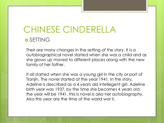 chinese cinderella essay family relationships Essay chinese cinderella the themes of family and relationships the theme of family and relationships is explored in chinese cinderella adeline's.