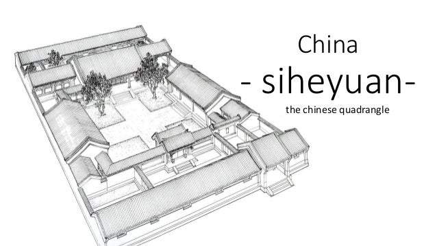 Chinese courtyard for Traditional chinese house plans