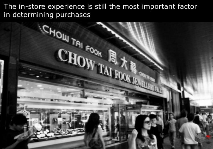The in-store experience is still the most important factorin determining purchases                                        ...