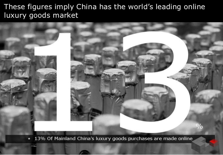 These figures imply China has the world's leading onlineluxury goods market                                        AMS    ...