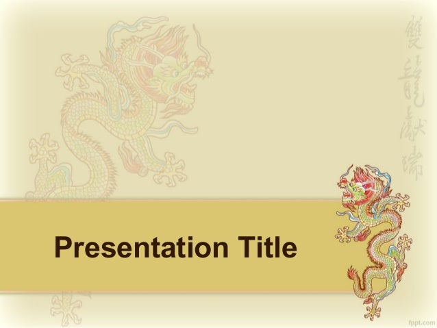Chinese Dragon Powerpoint Background and PPT Template