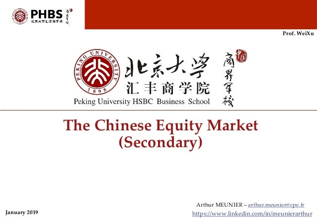 Chinese equity (stock) market presentation