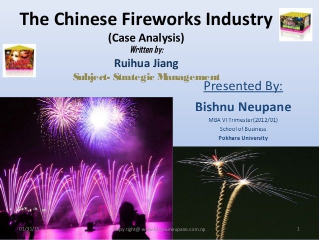 fireworks industry analysis