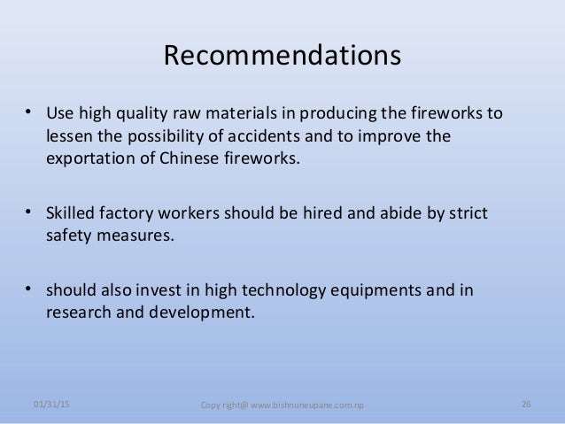 chinese fireworks case Mgt401 presentation on chinese fireworks consulting for jerry yu  transcript of entering the chinese firework industry  the final case umiami acc 603.