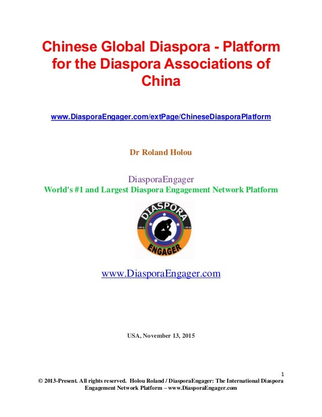 Chinese global diaspora, immigrants and refugees - platform