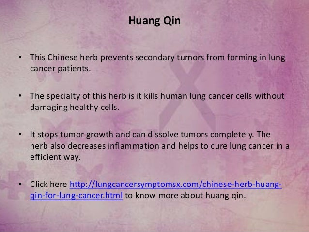chinese herbs for lung cancer