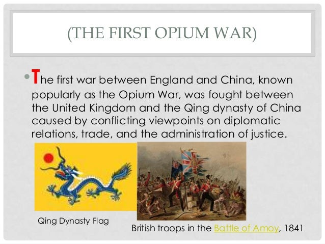 opium wars in china essay People believed a completely new governmental policy was needed for china (2) the effect of the opium wars was extremely detrimental to the chinese economy.