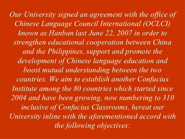 Our University signed an agreement with the office of  Chinese Language Council International (OCLCI)    known as Hanban l...