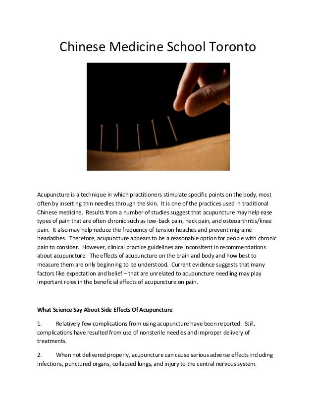 An analysis of acupuncture a chinese medical practice