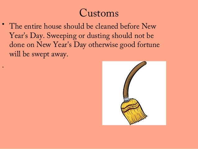 customs the entire house should be cleaned before new years - Chinese New Year Customs